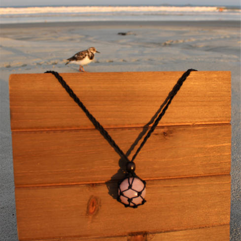 Hemp Rose Quartz Necklace