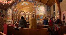 Parishoners worshipping at Saint George's