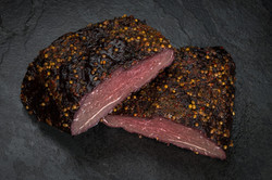 Hot smoked whale