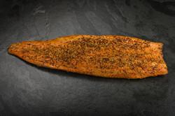 Hot smoked spice salmon