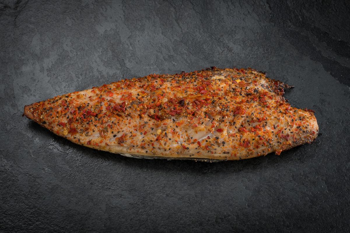Hot smoked spice mackerel