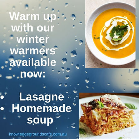 Warm up with our winter warmers availabl