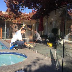 Pool Fence Washing