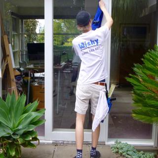 Window washing the frames