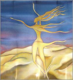 Desert Dancer Silk Painting