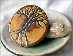 Wood Painted Medallion