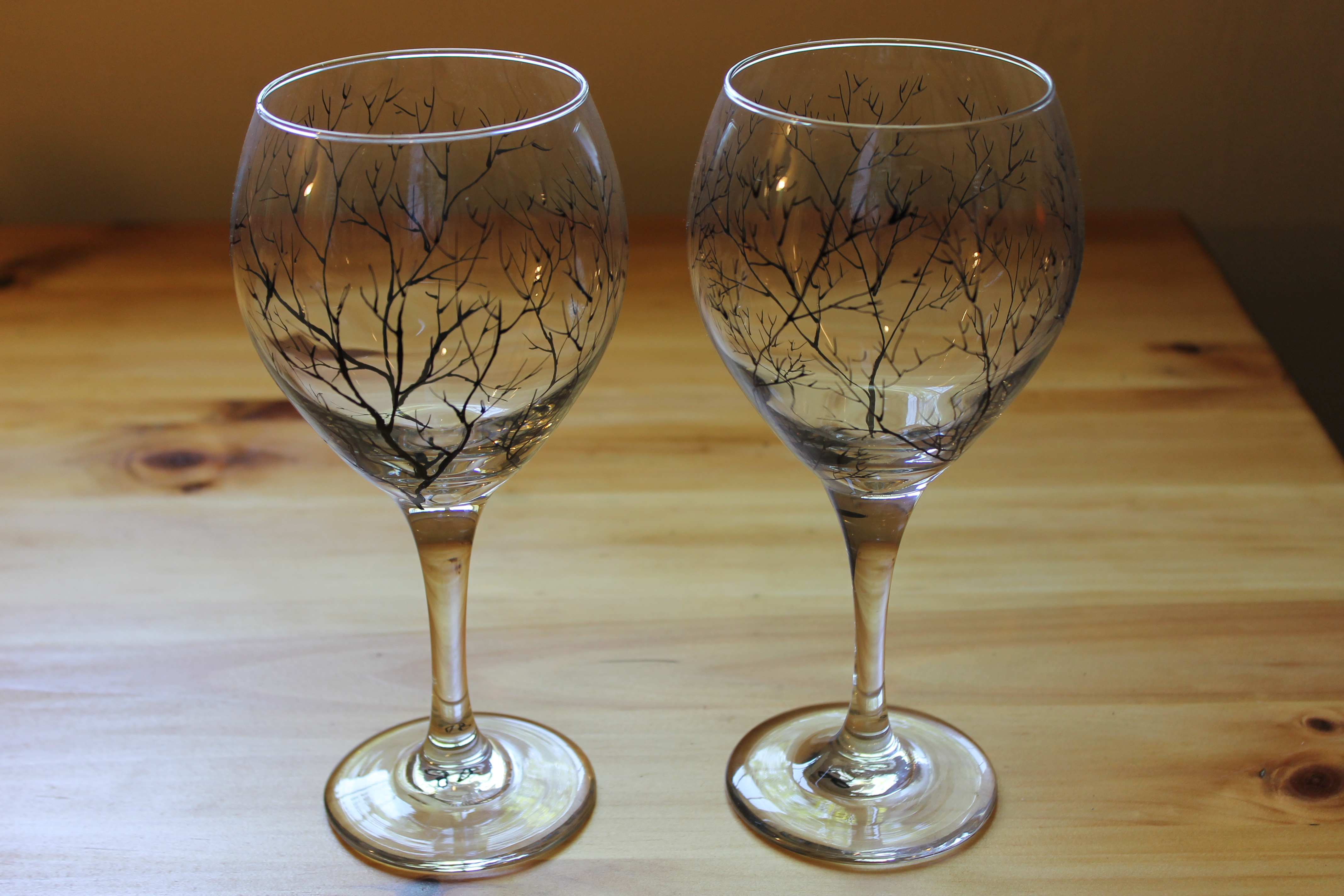 Forest Wine Glasses