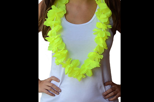 Collar hawaiano amarillo neon