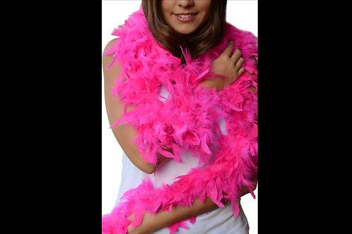 Boa de plumas rosa fiusha
