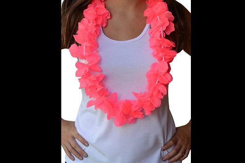 Collar hawaiano rosa neon