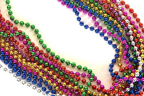 Collares metalicos de colores  (12 piezas)
