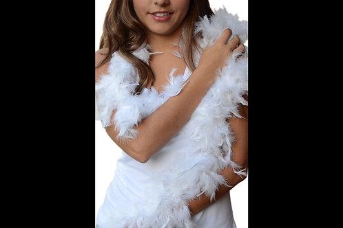 Boa de plumas blanca
