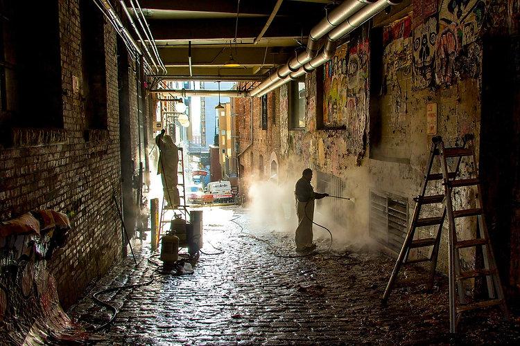 enlèvement des graffitis