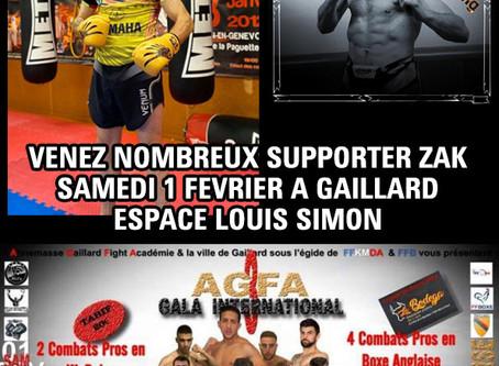Gros challenge pour le boxeur du Fighting Training Center