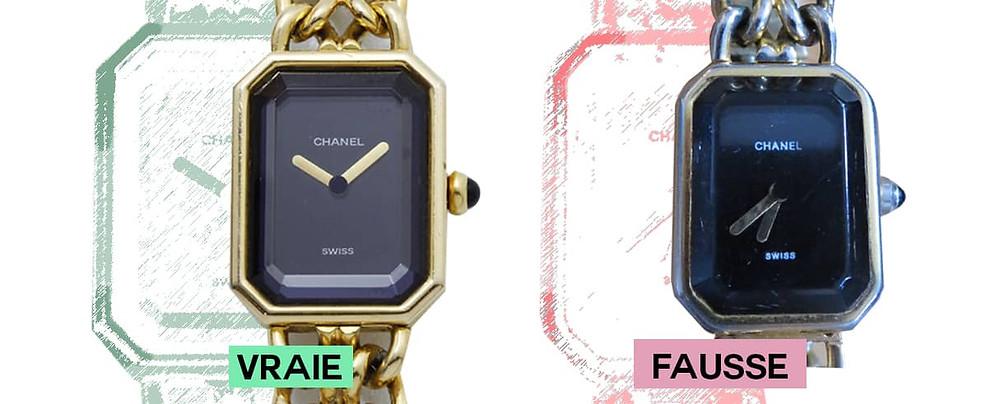 forme cadran chanel premiere montre or