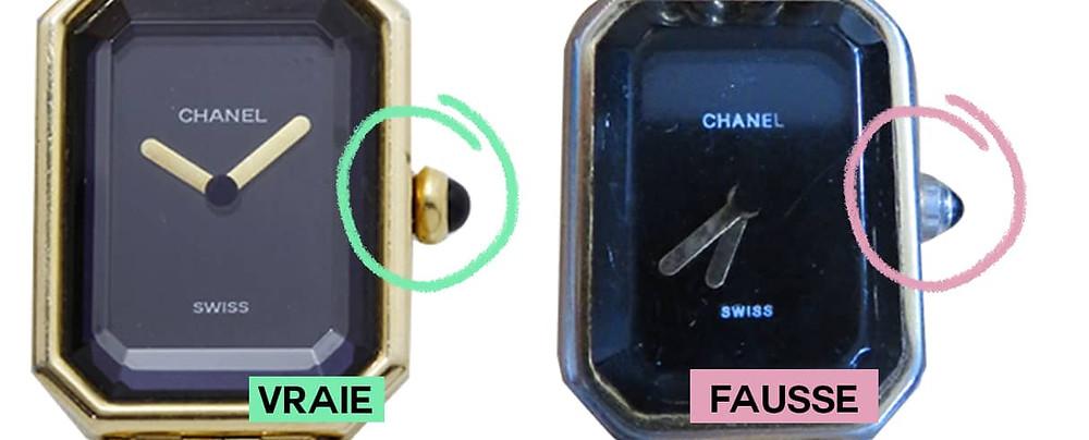 remontoir chanel première montre or