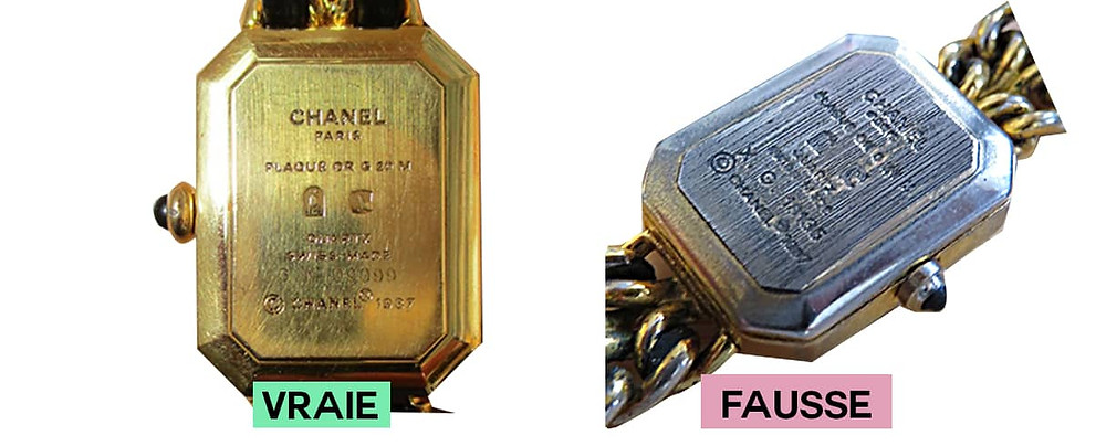 dos montre Chanel première or