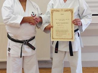 Sensei Jason awarded 4th Dan