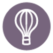 Hot Air Balloon Icon - Purple