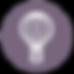 熱気球のアイコン - パープル