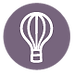 Hot Air Balloon Icon - Purple