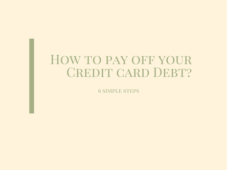 How to pay off credit card debt ?