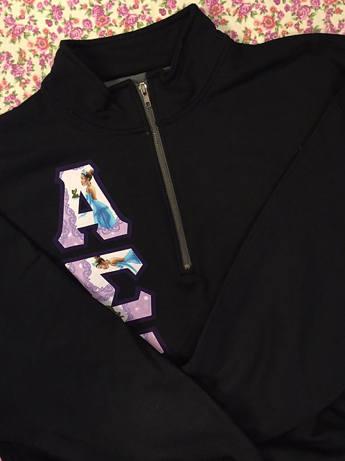 Greek Letter Quarter-Zip Sweatshirt
