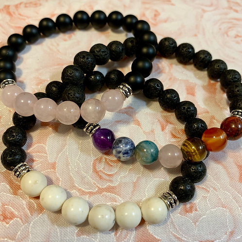 Crystal Gemstone Stretch Bracelet