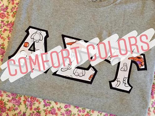 Greek Letter T-Shirt (Comfort Colors)
