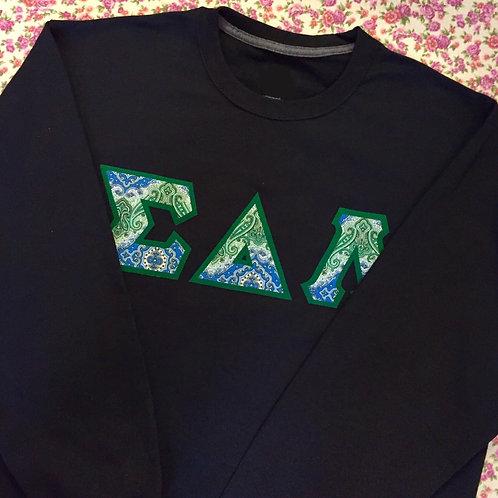 Greek Letter Crewneck Sweatshirt