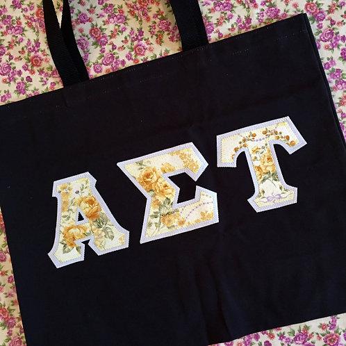 Greek Letter Large Tote Bag
