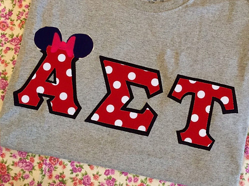 Minnie Mouse Greek Letter T-Shirt