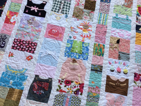 Memory Quilt with a Kitty Theme