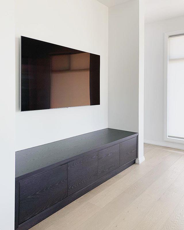 Custom tv unit in American oak timber! S