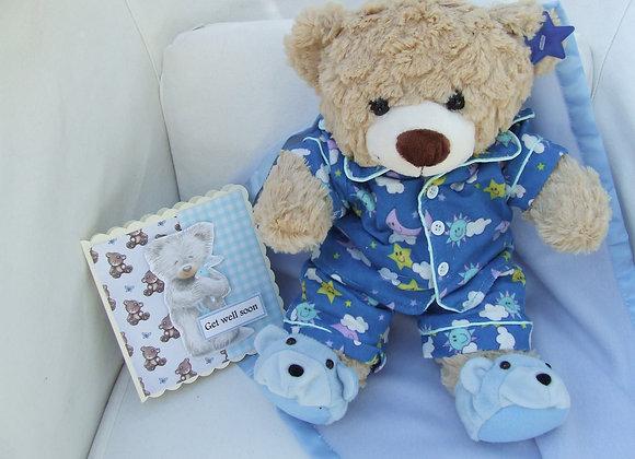 Get Well Soon GIFT BEAR blue