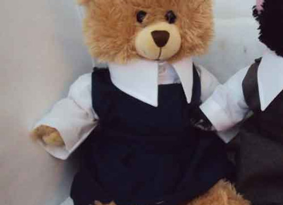 My School Bear Girls Pinafore set. All school colours available