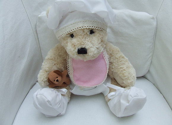 "BABY SHOWER Pink bear gift with 16"" bear"