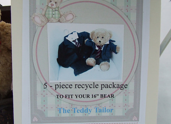 WITH BEAR 3 piece recycle gift package