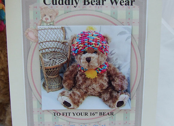 "Lucy blue fleece hat and scafr sewing kit for 16"" bear/doll"