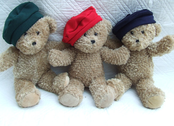 "My School Bear Beret for 16"" Bear. All school colours available"