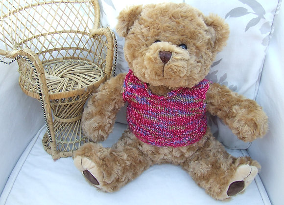 "Maximus Vest Knitting Pattern for 16"" Bears"