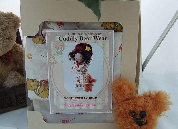 "Bailey Bear PJ  & 5"" bear Sewing Pattern Kit For 16"" Bear"