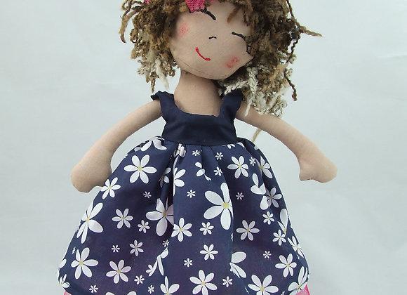 Selfie daisy flower dress navy