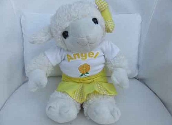 PERSONALISED LAMB with handmade clothing