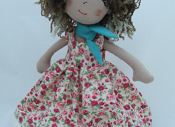 """Chelsea Rosebud Dress Sewing Patten Kit for 16"""" Bear or doll."""
