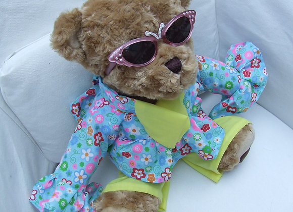 DECADES 70's Floral bright trouser Bear