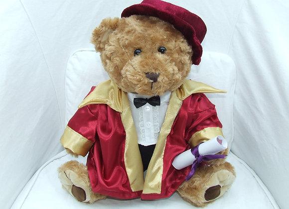 PHD GRADUTATION BEAR RED WINE
