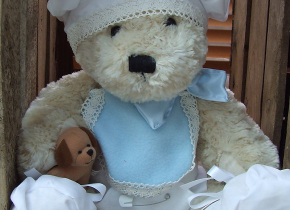 "BABY SHOWER Blue bear gift with16"" bear"