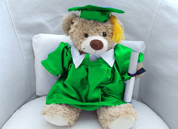 GRADUATION BEAR GREEN