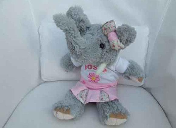 PERSONALIED ELEPHANTwith handmade clothing